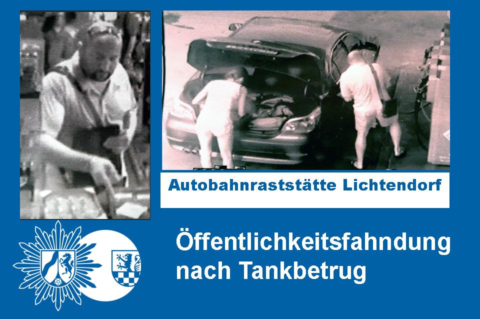 Öffentlichkeitsfahndung nach Tankbetrug