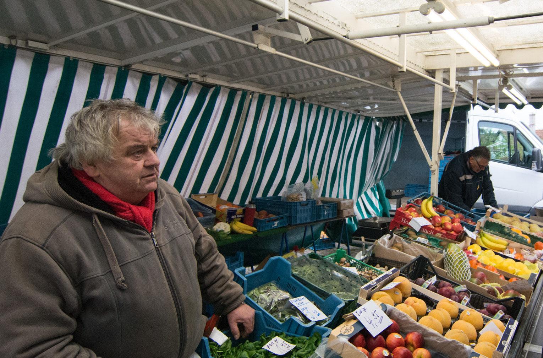 Wochenmarkt nicht auf dem Marktplatz
