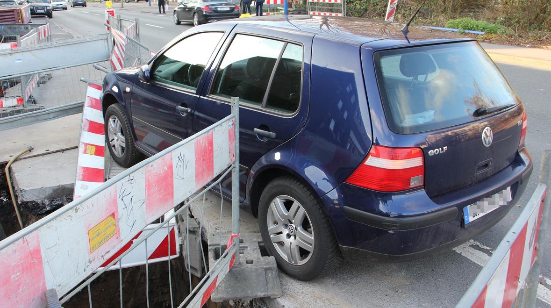 Unfall mit Schutzengel: Fahrerin velor die Kontrolle
