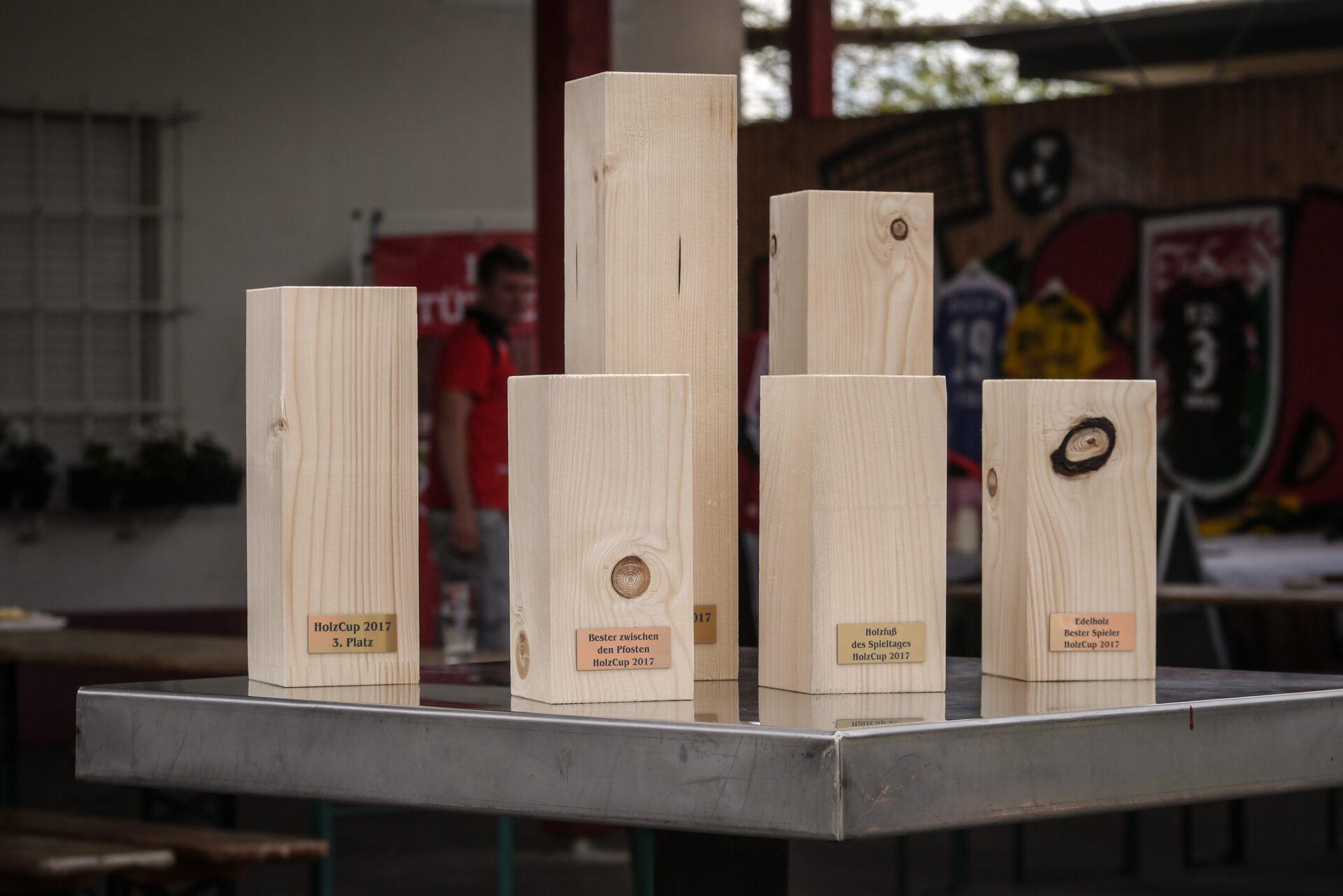 Die Holzpfosten sind bereit für den 2. Brennholz-Cup