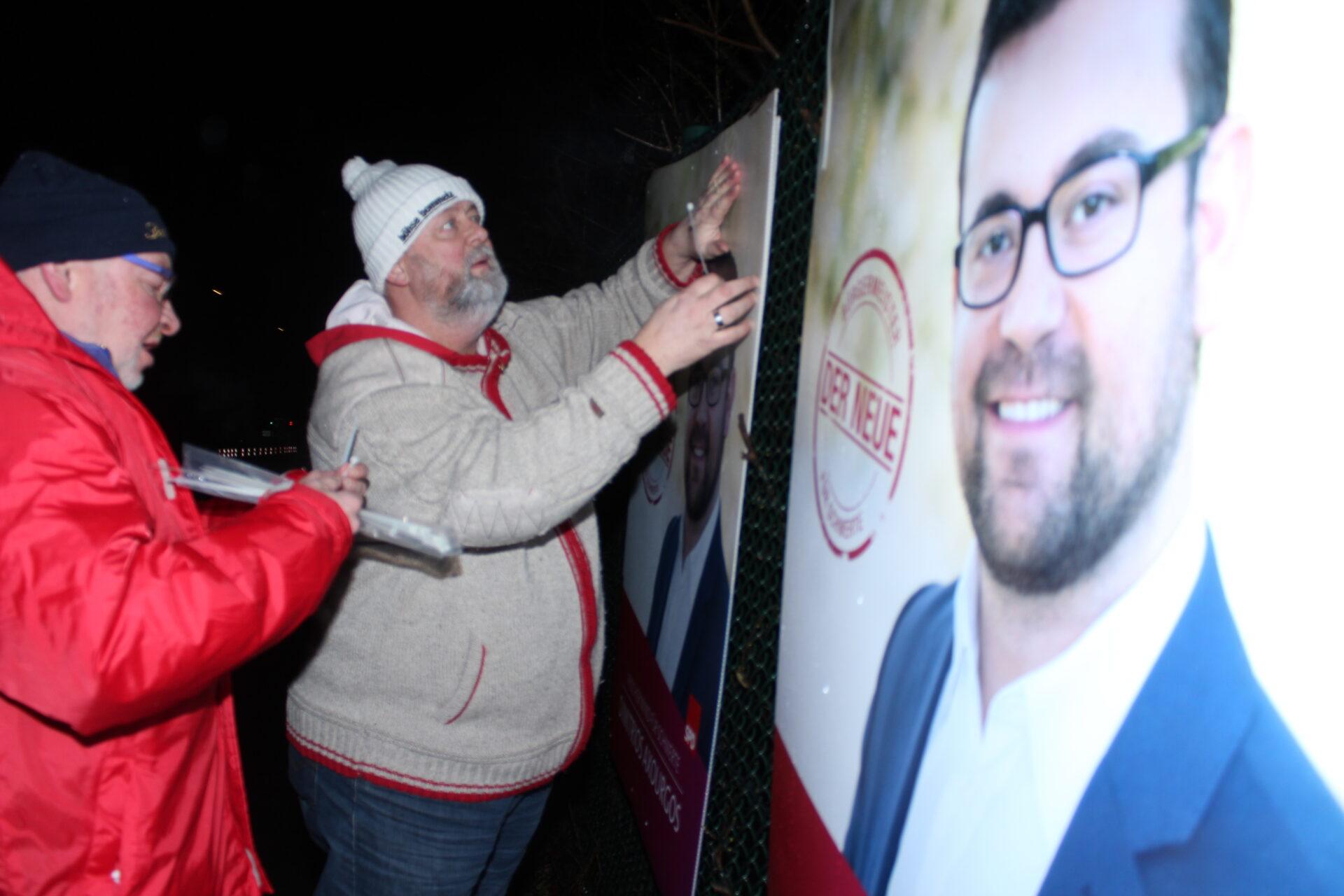 Wahlkampf nimmt Fahrt auf: Plakatierung gestartet