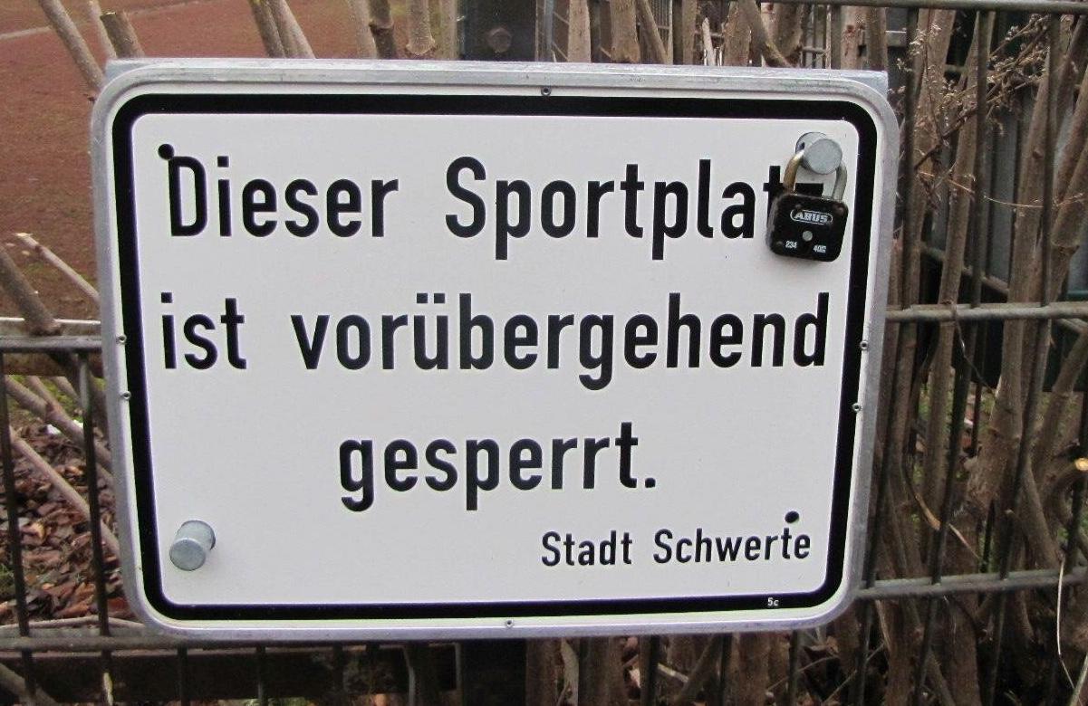 FBG-Sportplatz gesperrt