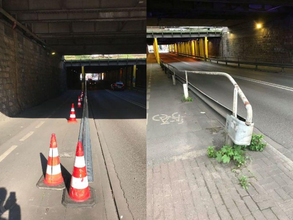 Bauarbeiten im Bahnhofstunnel: Neue Leitplanken
