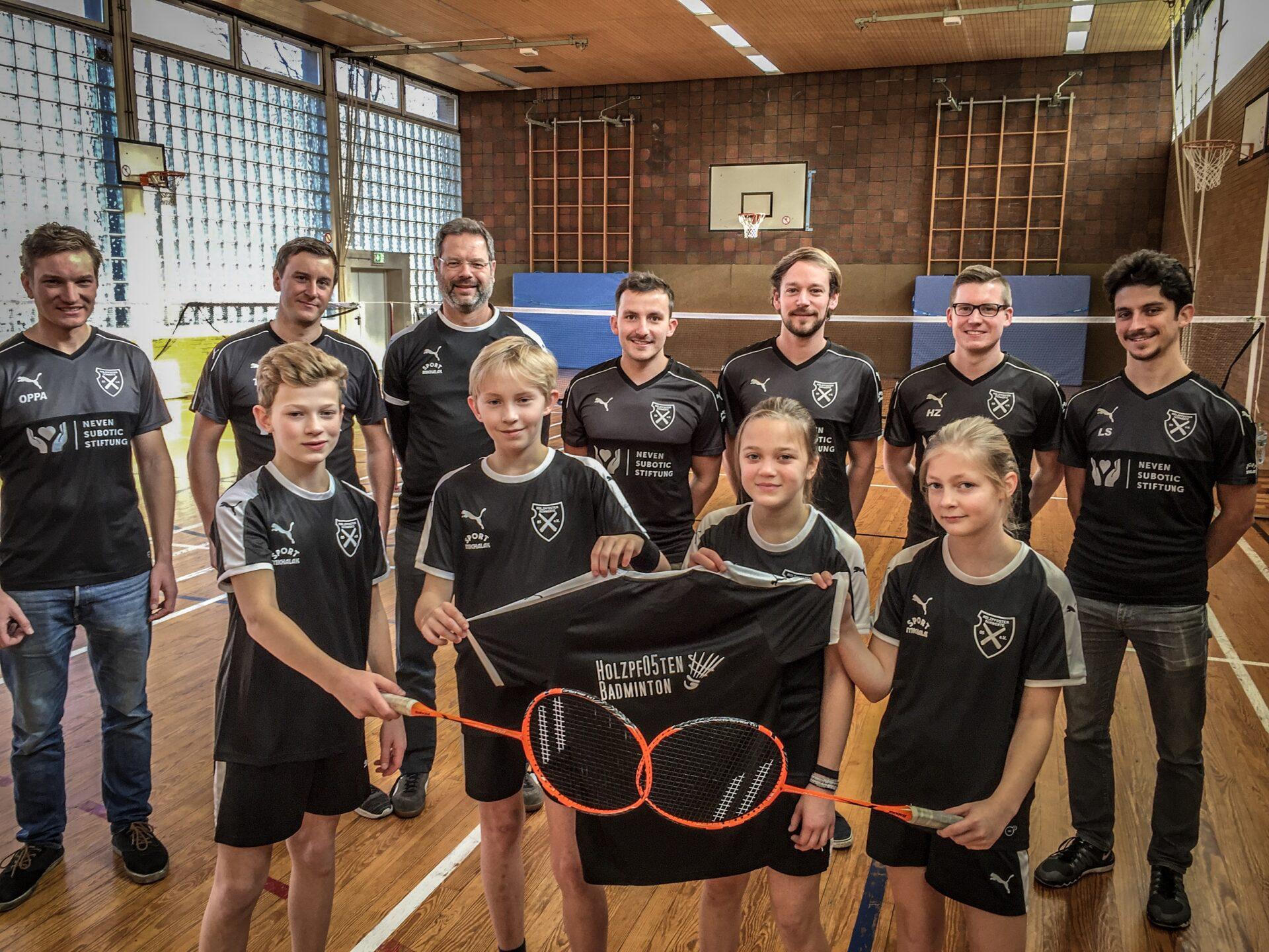 Neues U13-Bandminton Team der Holzpfosten