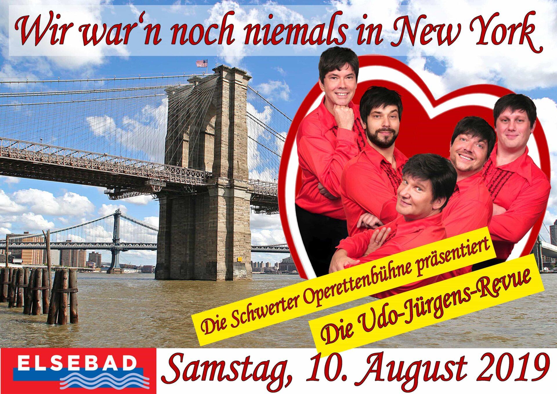 Wir war'n noch niemals in New York: Udo Jürgens-Revue im Elsebad
