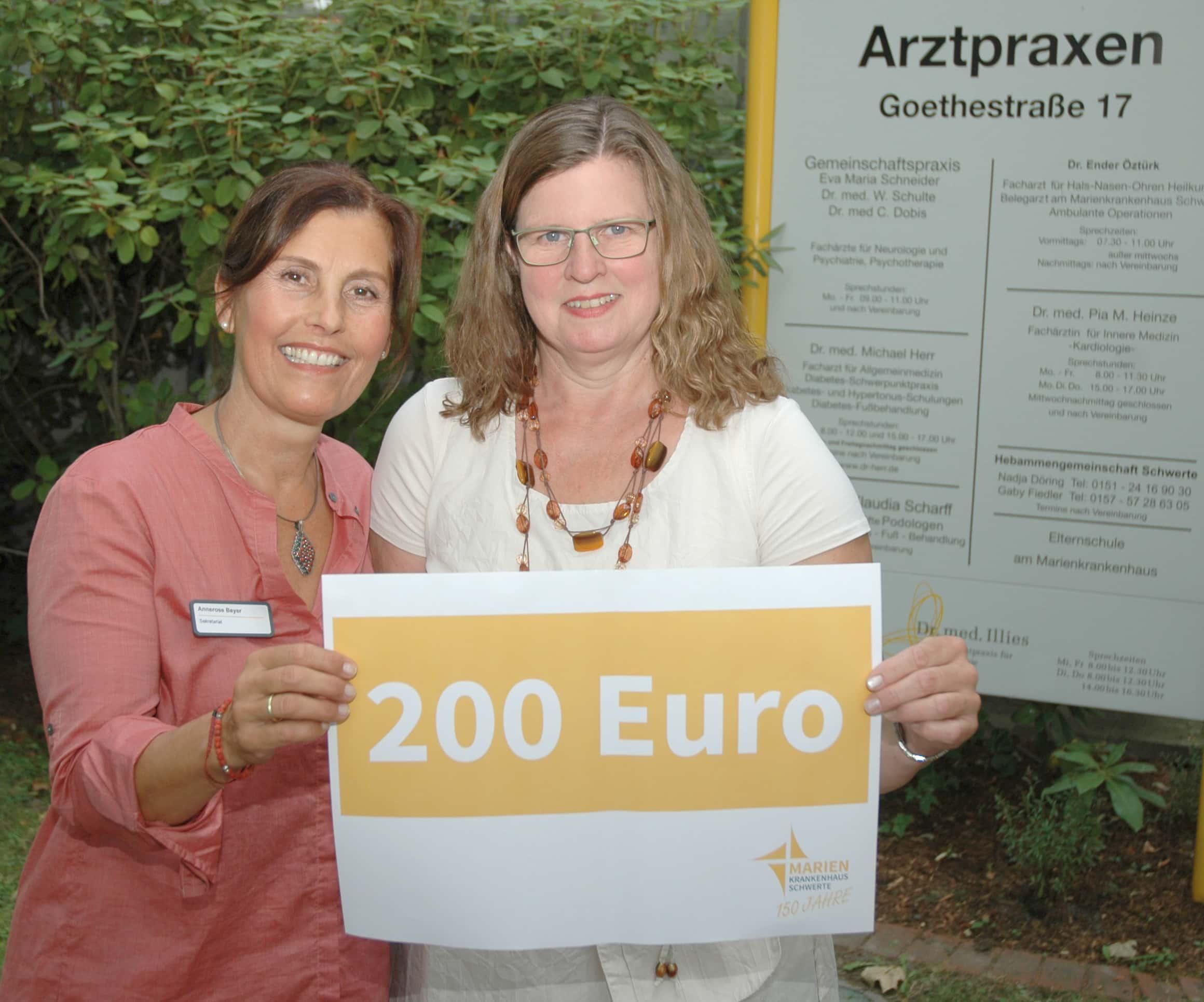 200 Euro für das wellcome-Projekt