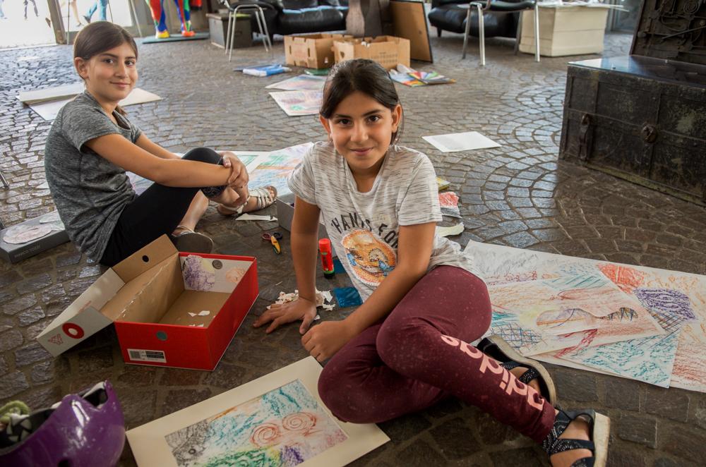 Kinder fanden zahlreiche erzählende Spuren aus Vergangenheit und Gegenwart