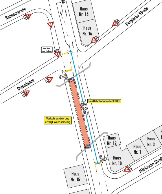 Bahn setzt Brücke instand: B236 halbseitig in der Nacht gesperrt