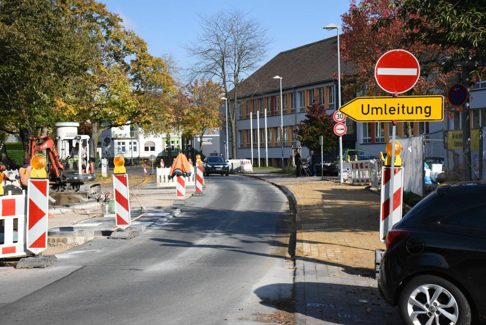 Arbeiten in der Wittekindstraße dauern länger an