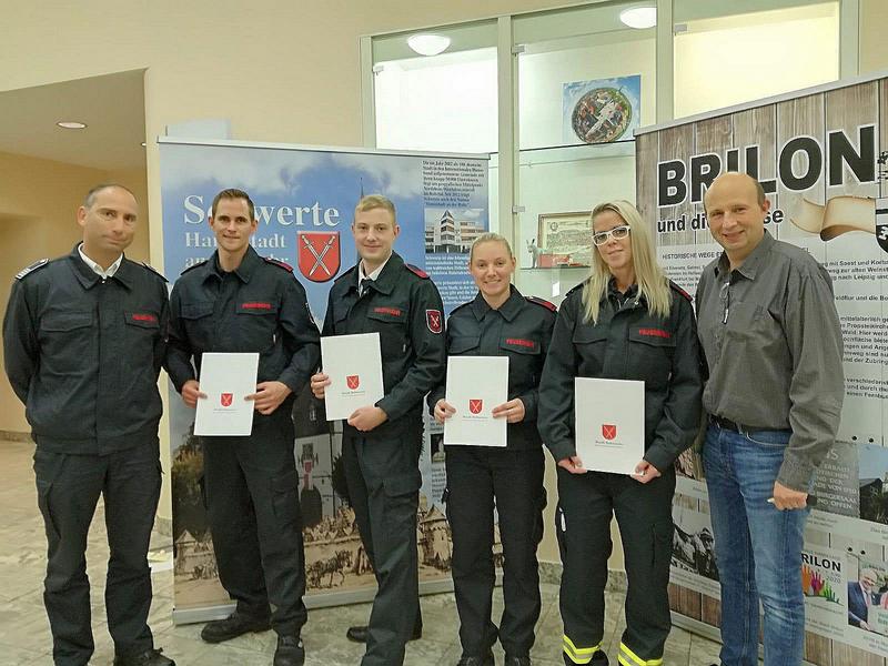 Vier Ernennungen bei der Feuerwehr