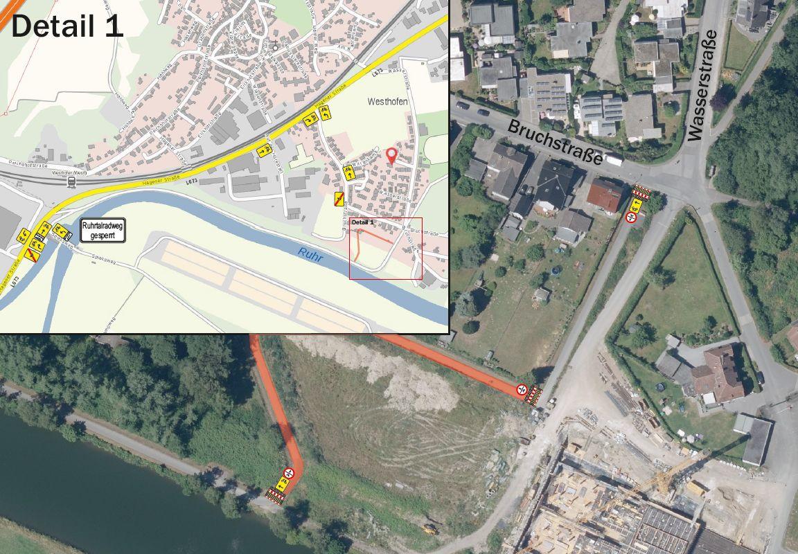 Ruhrtalradweg erhält in Westhofen eine Asphaltdecke