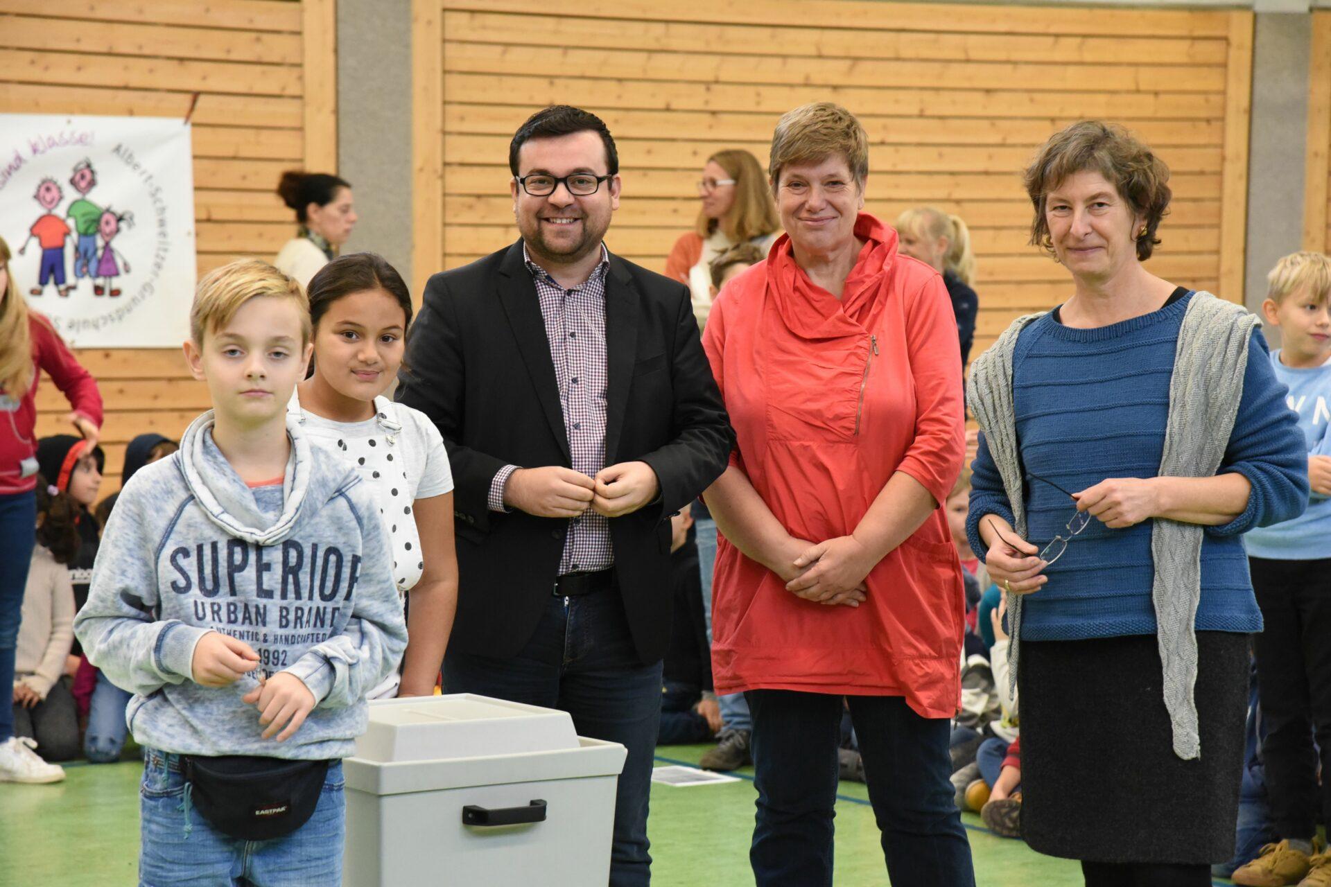 Projekt Schülerhaushalt: Hüpfstangen für die Albert-Schweitzer-Schule