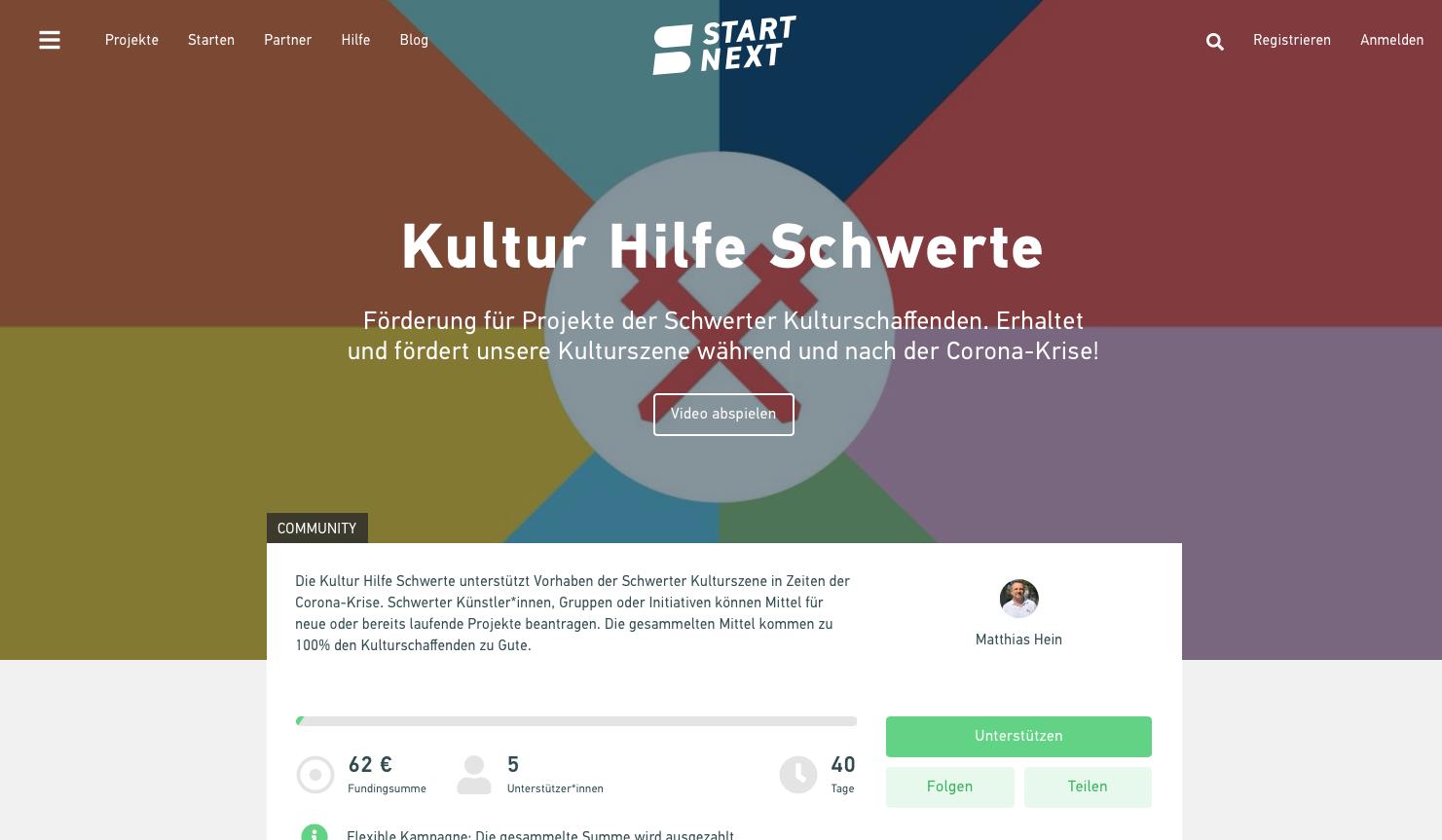 """Kulturbüro, Stadtmarketing und TWS starten die """"Kultur Hilfe"""" Schwerte"""