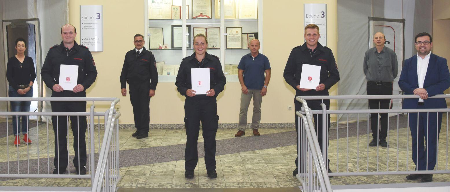 Mara Klein und Dennis Huck: Verstärkungen für die Feuerwehr