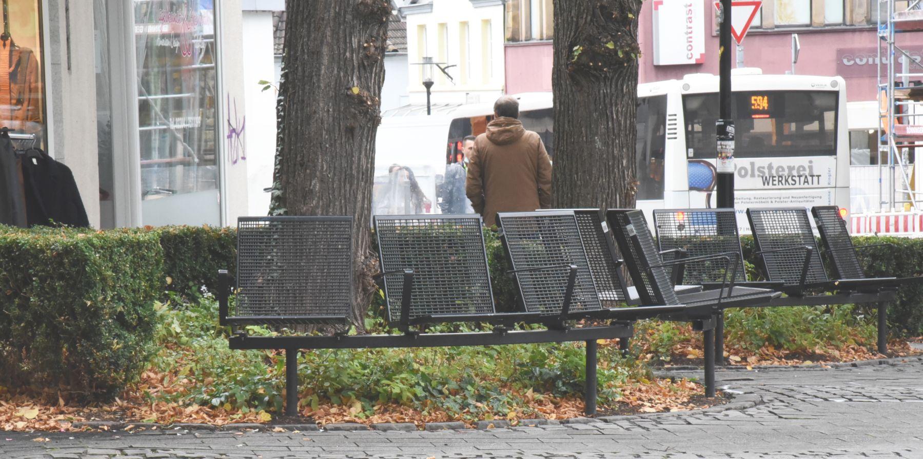 Sitzen am Postplatz wieder möglich