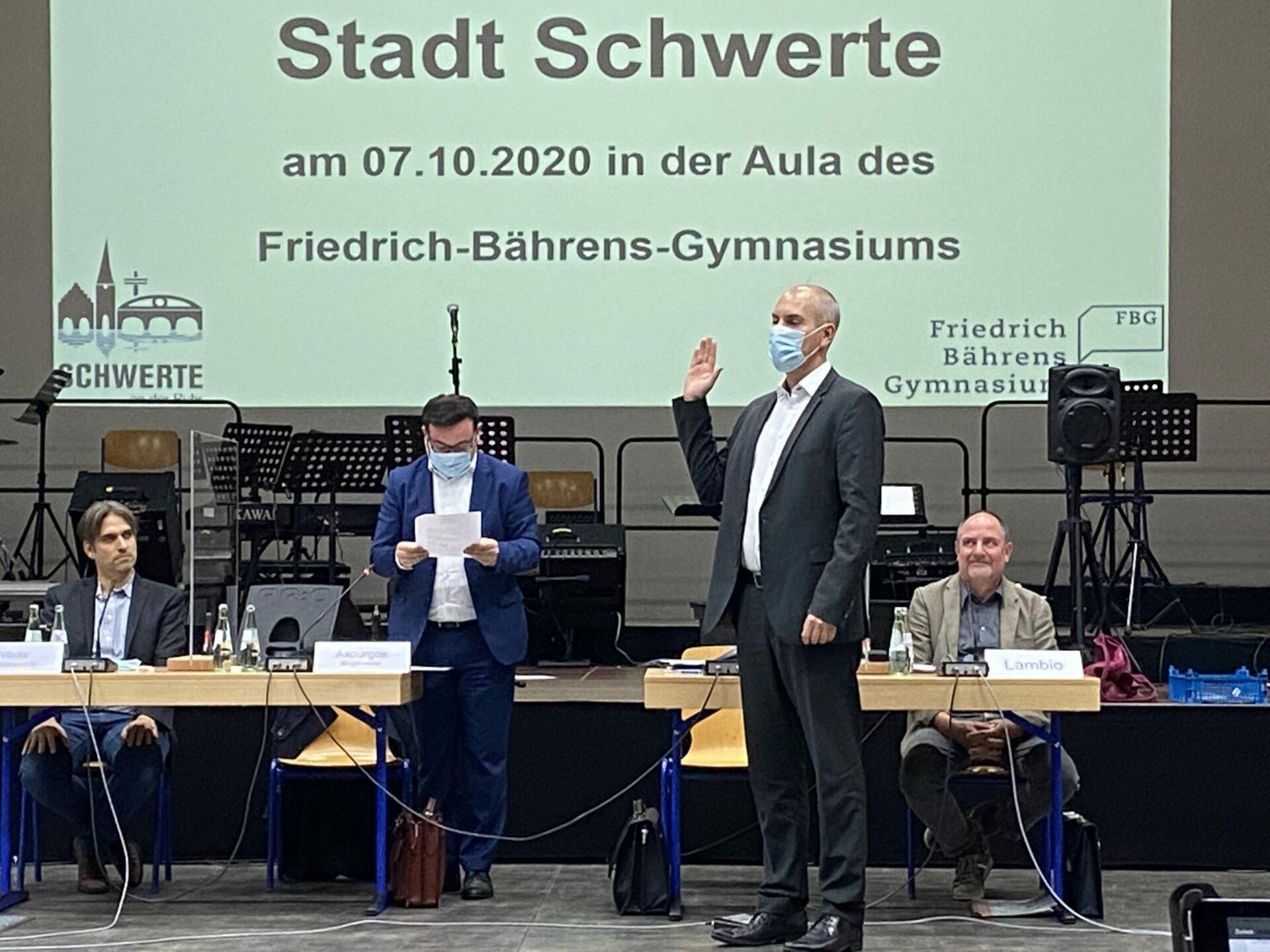 Erster Beigeordneter Tim Frommeyer vereidigt