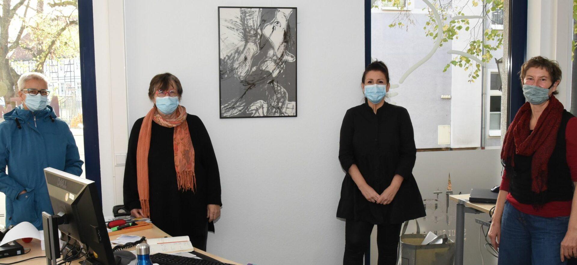 Im Büro der MitMachStadt: Das Bild des Monats ein Zeichen für die Kunst