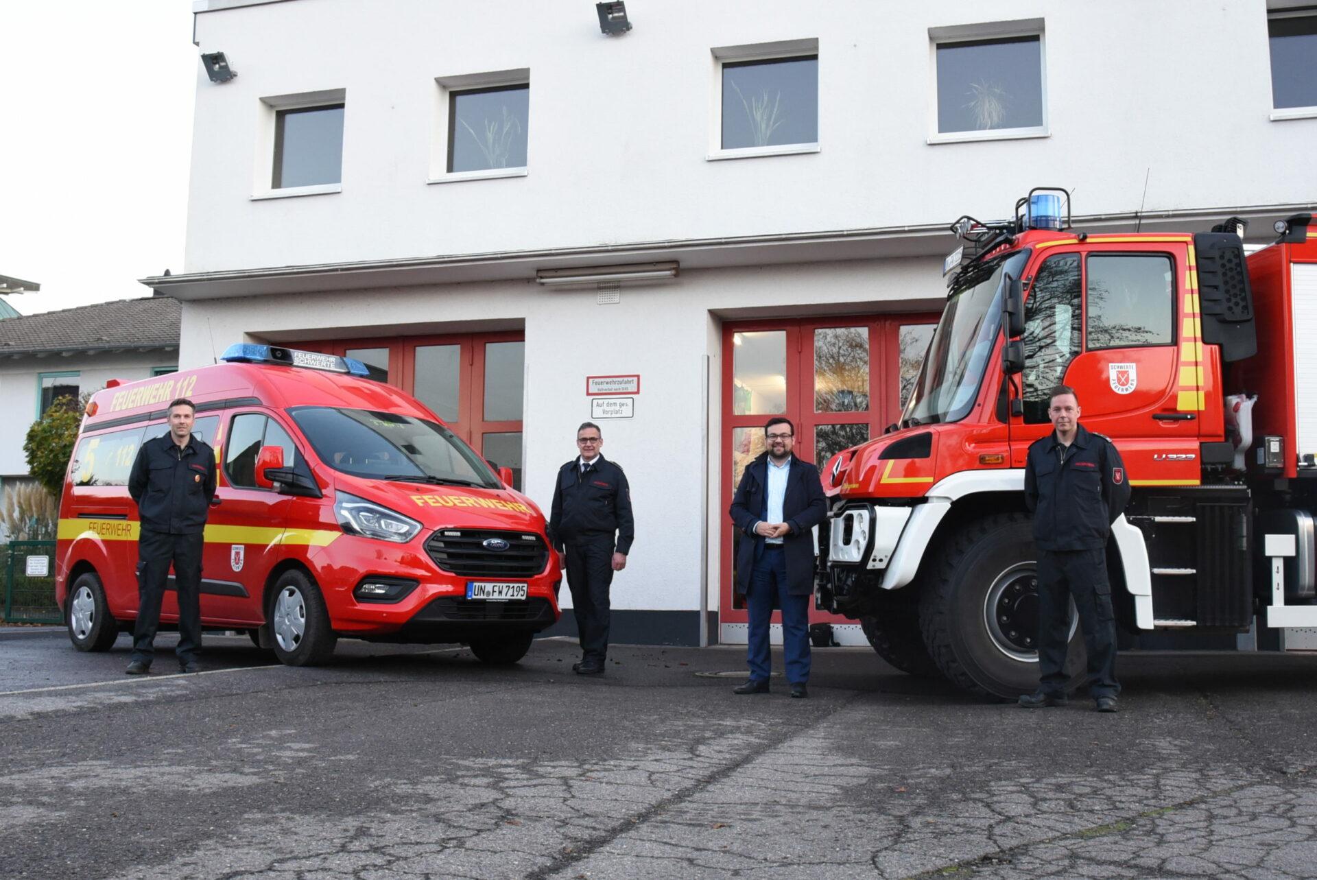 Stadt Schwerte investiert: Zwei neue Fahrzeuge für die Feuerwehr