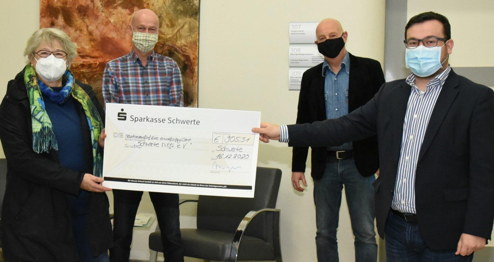 """Restgeldspende: Stadt Schwerte hilft """"Schwerte hilft"""""""