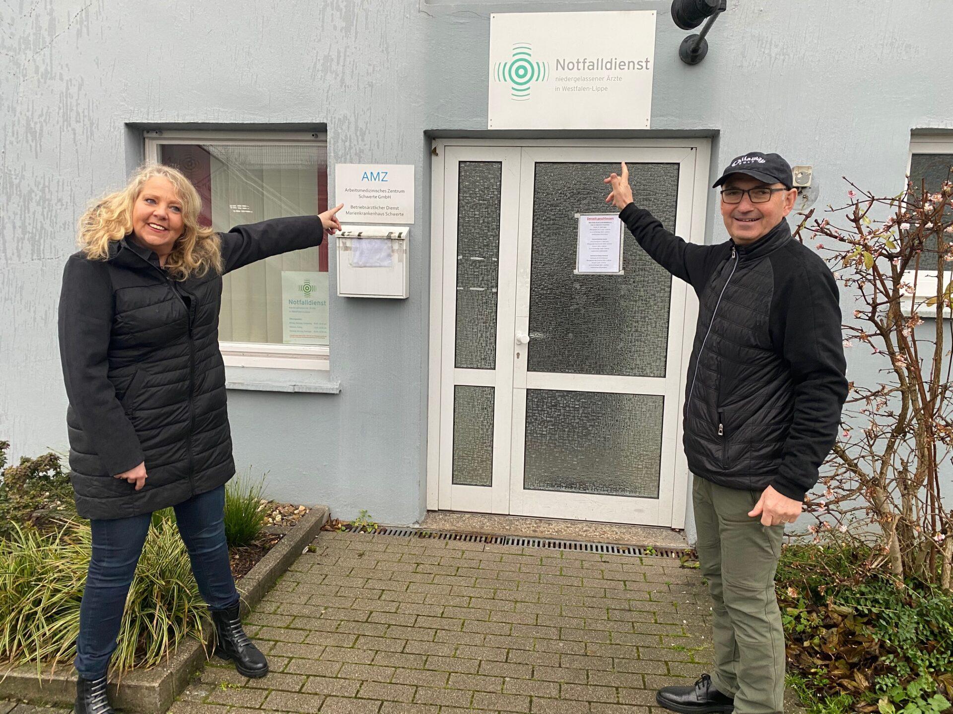 Dr. Jörg Rimbach und Bianca Dausend: Notdienstpraxis gerettet