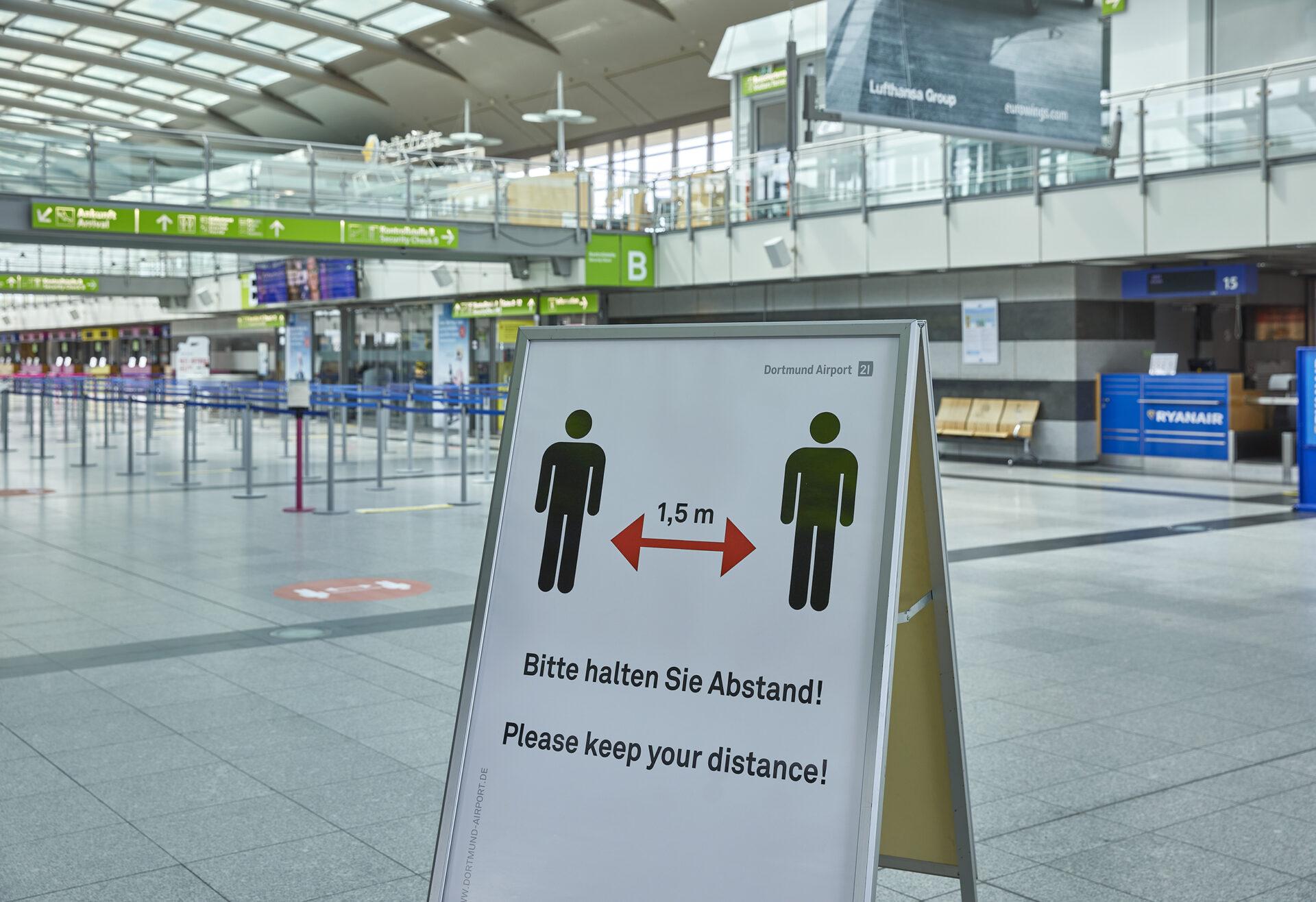 Schnelltestzentrum ab Neujahr am Flughafen Dortmund
