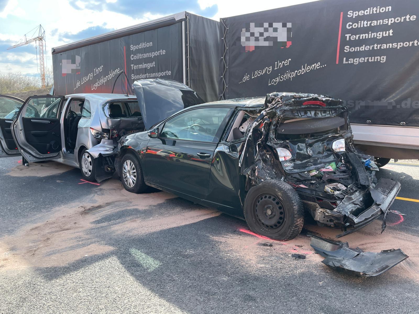 Verkehrsunfall auf der A 45 bei Schwerte-Ergste: Vier Verletze – davon eine Frau schwerverletzt