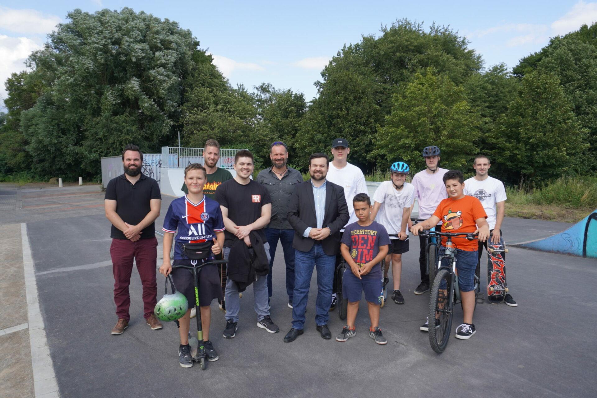 Skateranlage an der Rohrmeisterei in Schwerte erneuert und eröffnet