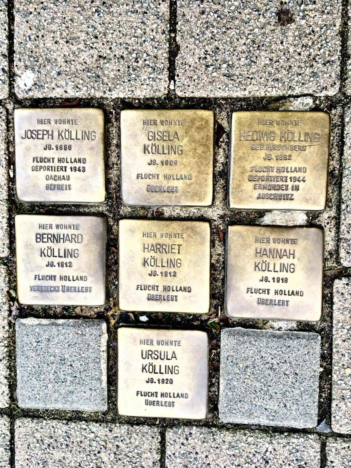 Von Stolperstein zu Stolperstein – Rundgang an Orte der Erinnerung unter fachkundiger Leitung mit kulturellem Begleitprogramm