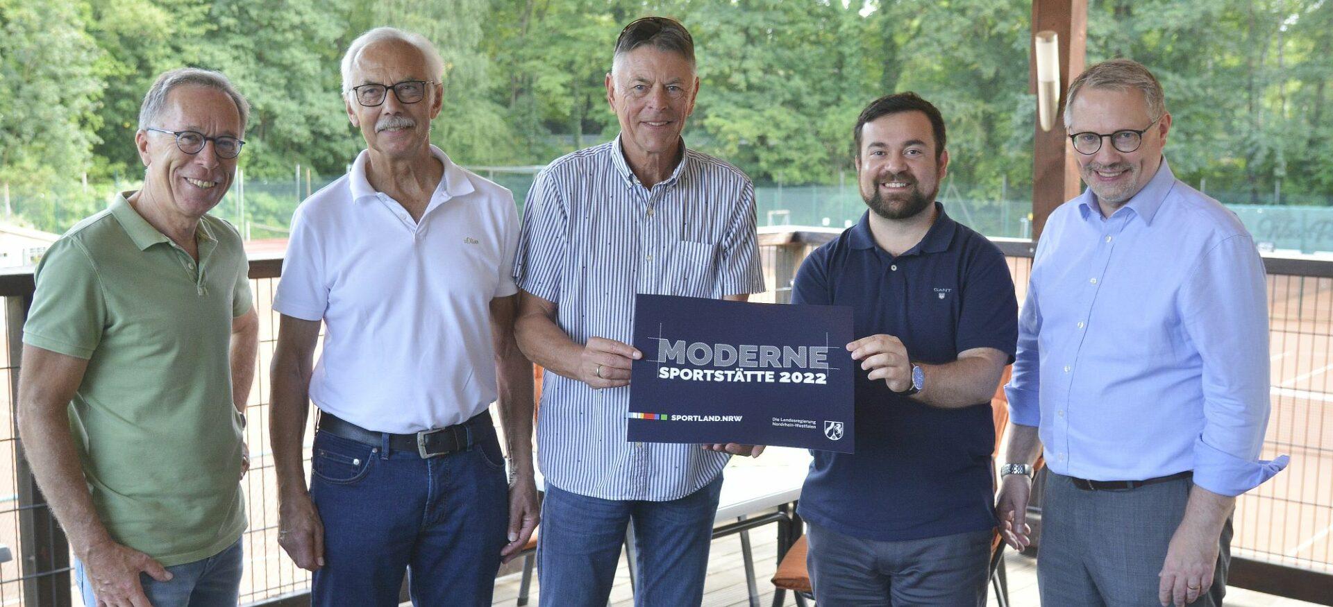 """""""Nachhaltige Förderung"""": Bürgermeister besucht Tennisabteilung der TGW"""