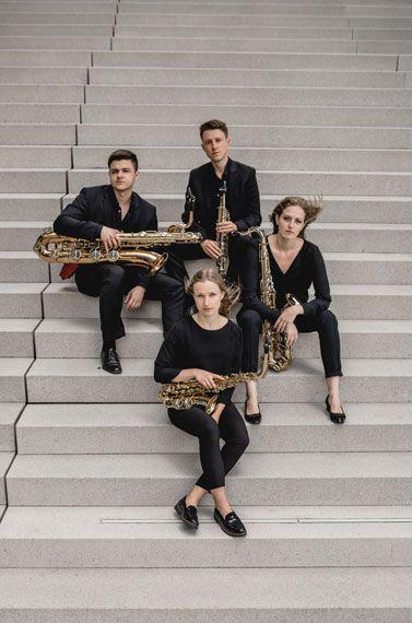 Junges Saxophonquartett mit großer Ausstrahlung