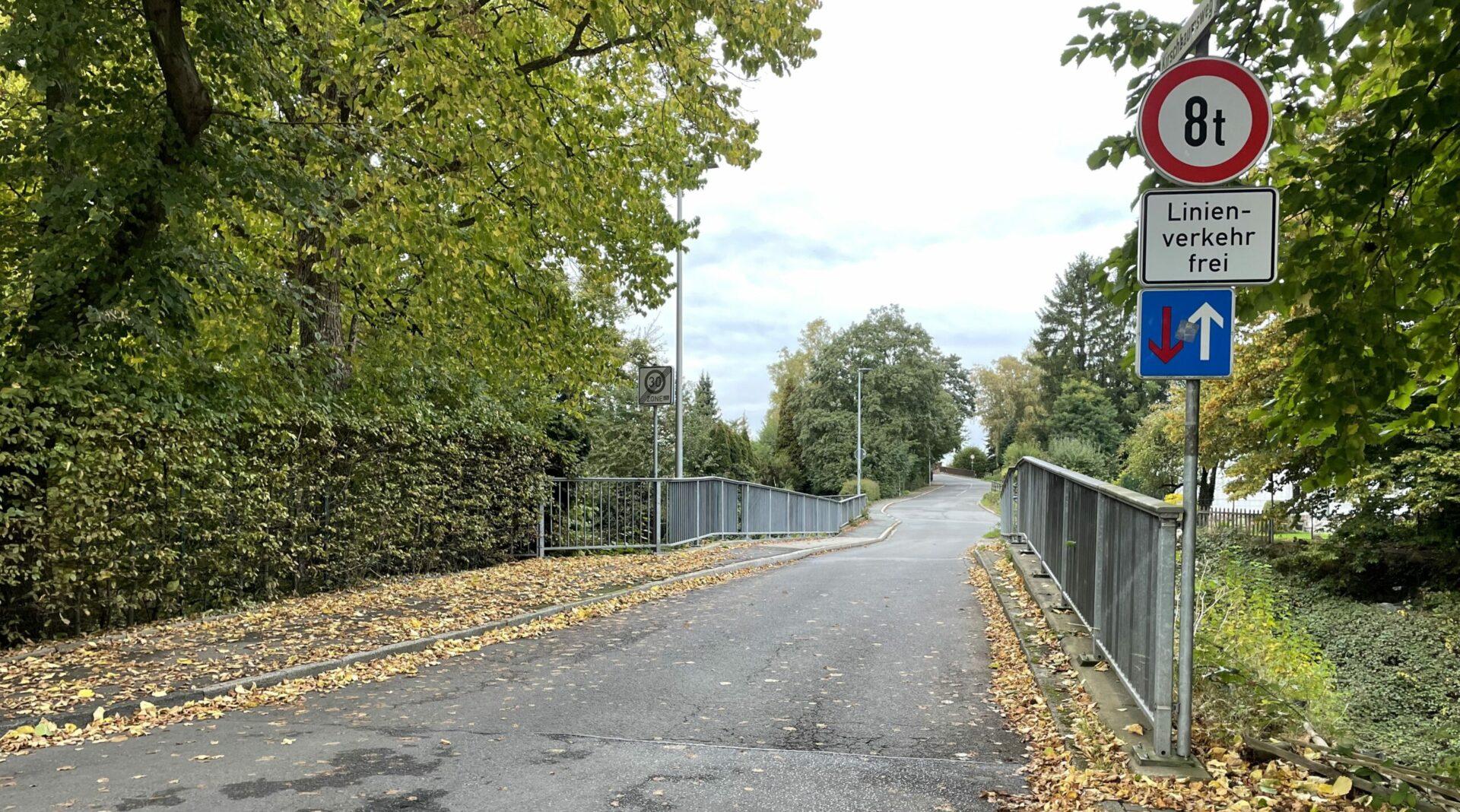 Kirschbaumsweg kurzzeitig voll gesperrt